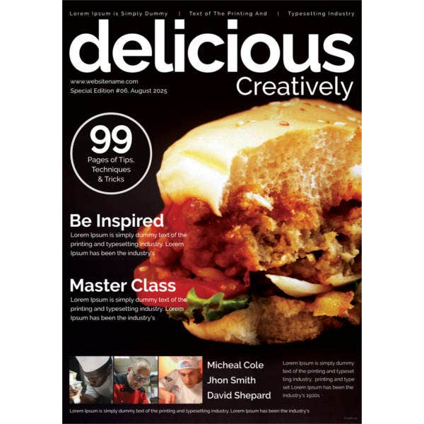 food-magazine-cover-template