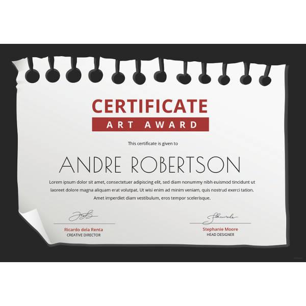 free-art-award-certificate-template