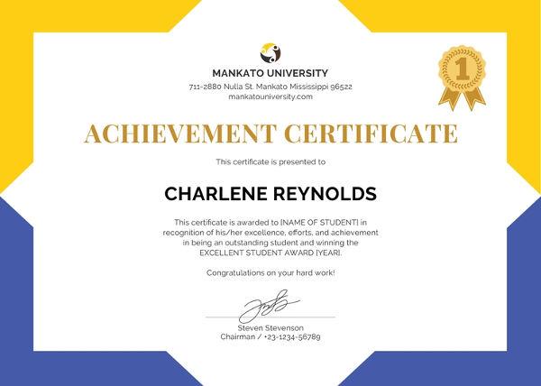 Free School Certificate