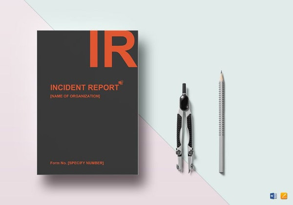 general incident report template word