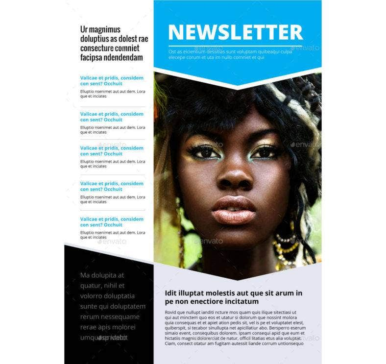 general newsletter template 788x743