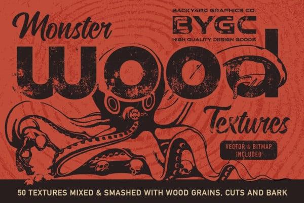 monster vector wood textures