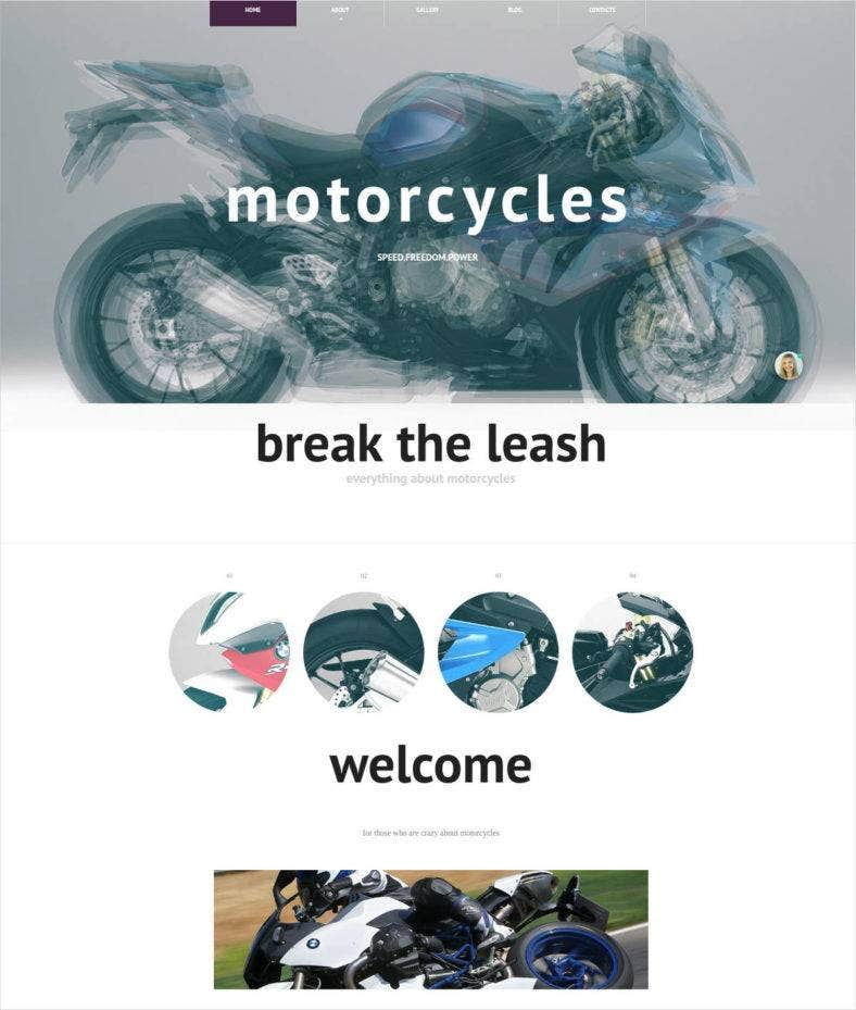motorbikes-website-theme-template