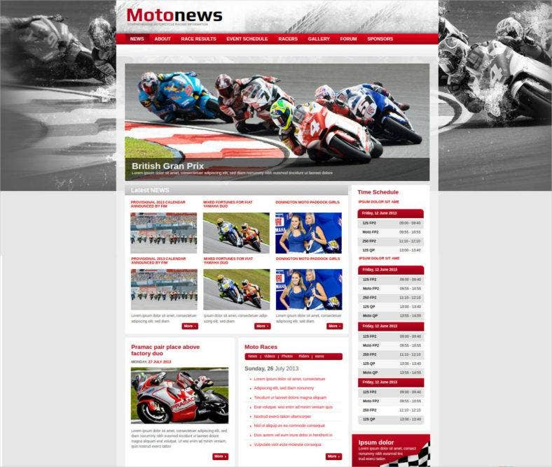motorcycle-racing-website-template