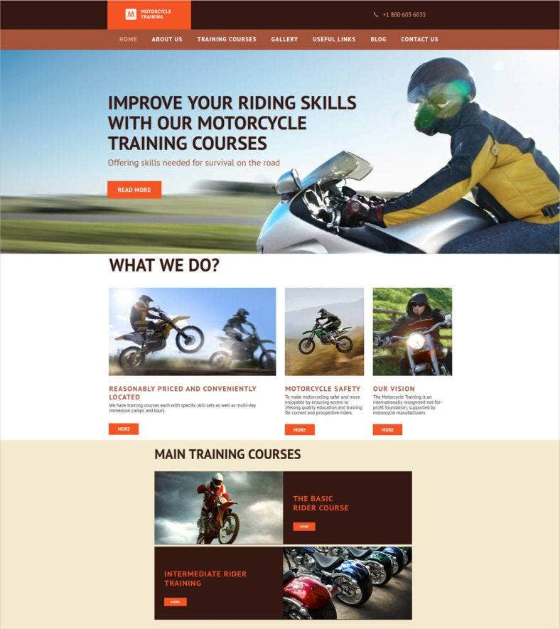 motorcycle-training-website-template