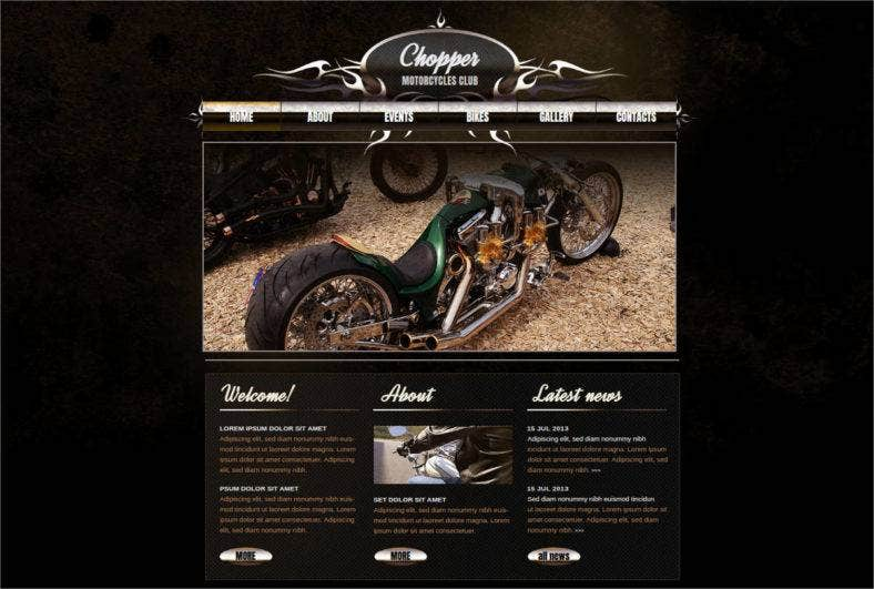 motorcycles-club-website-template