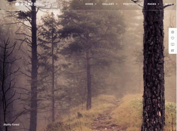 onepage photography wordpress theme