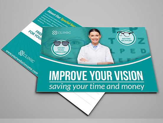 optometrist postcard template