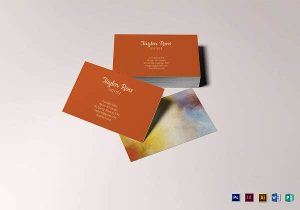 printable artist business card template