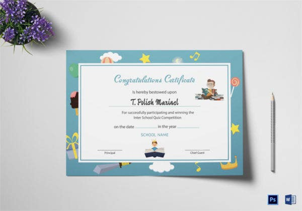 Reading Award Congratulations Certificate
