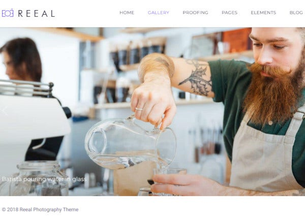 reeal photography wordpress theme