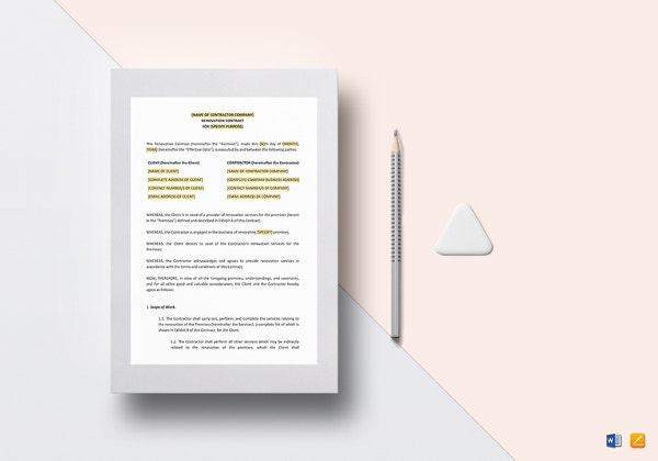 renovation-contract-template