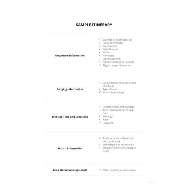 sample-itinerary-template