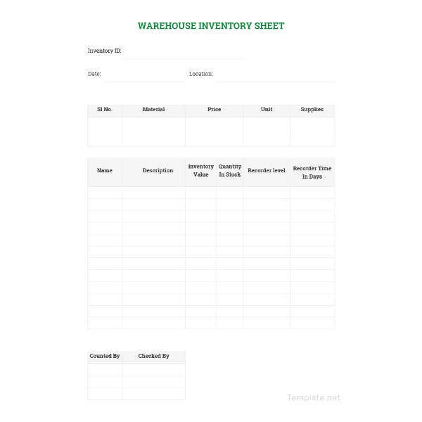 sample warehouse management spreadsheet template1