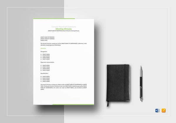 simple-board-of-directors-meeting-minutes-template