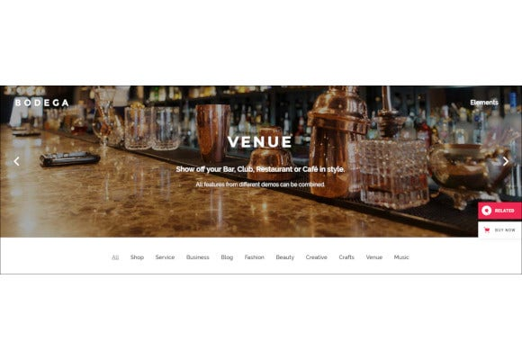 stylish theme for small businesses