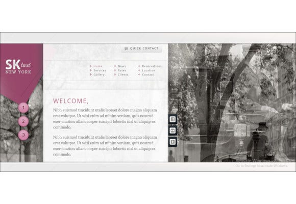 taxi local business website template