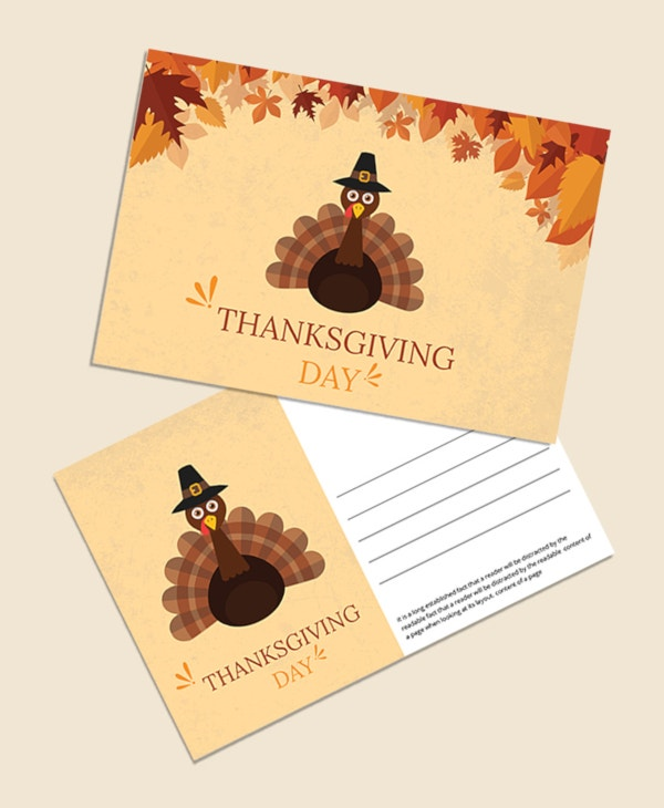 thanksgiving postcard invitation
