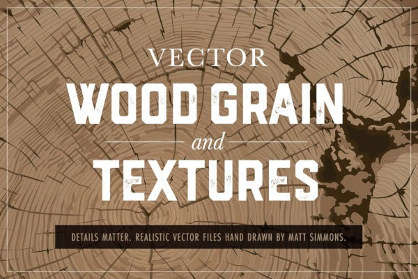 vector wood grain and textures