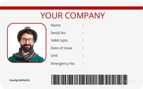 vertical-id-card-template