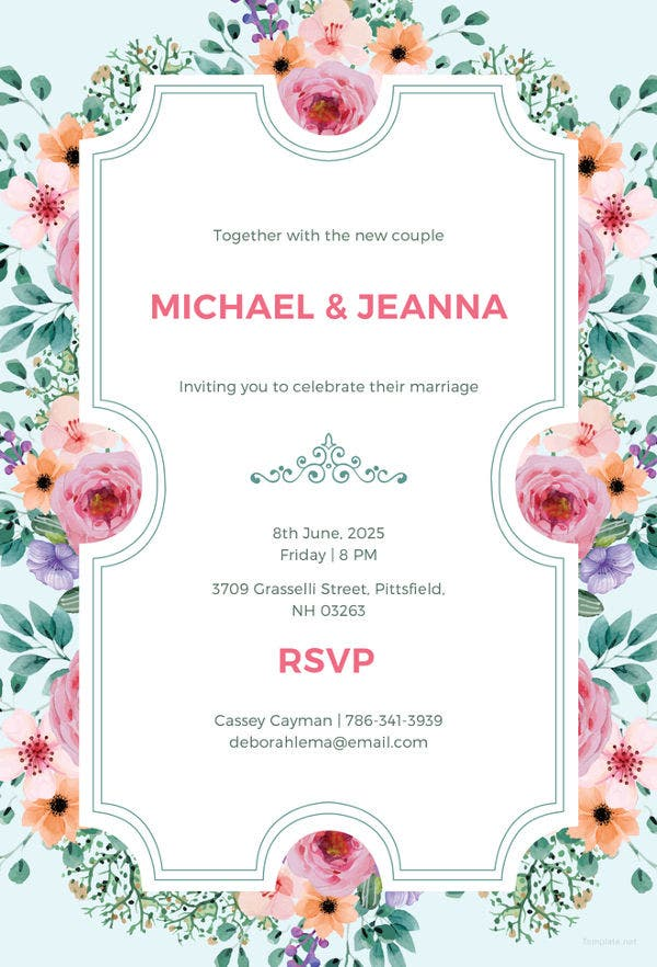 45+ Wedding Invitation Template Free PSD Vector AI EPS