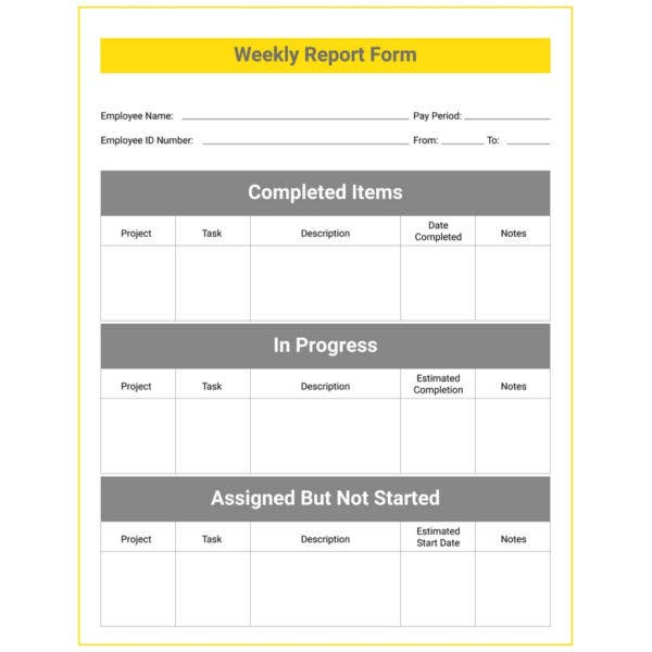 weekly report template3