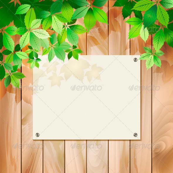 green vector wood