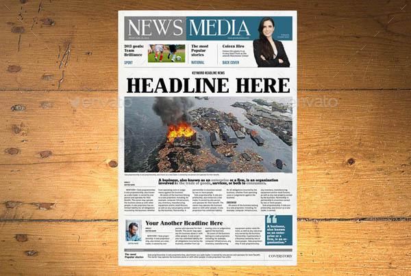 indesign newspaper
