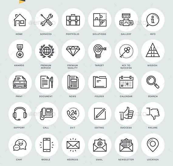 pure-line-icons