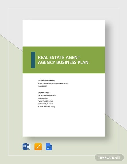 real estate brokerage business plan template pdf