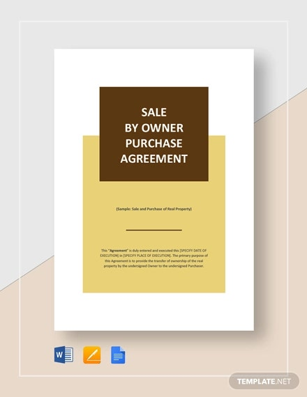 Simple Sale by Owner Purchase Agreement Template