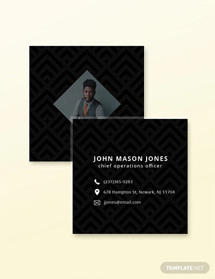 simple square business card