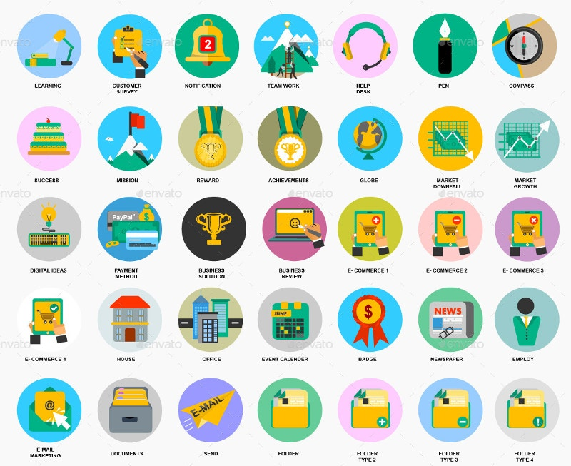 set of 400 latest business icons