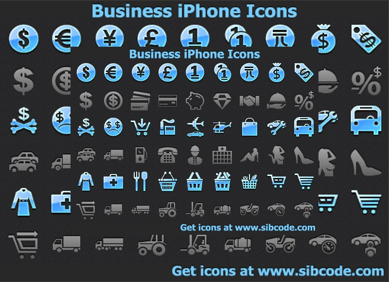 vector business iphone icons