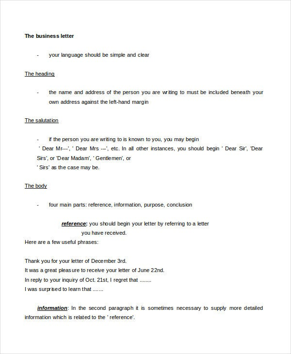 Business Letter - 11+ Free Word, Pdf Documents Download | Free