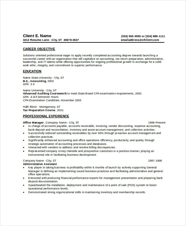 entry level resume for administrative assistant example
