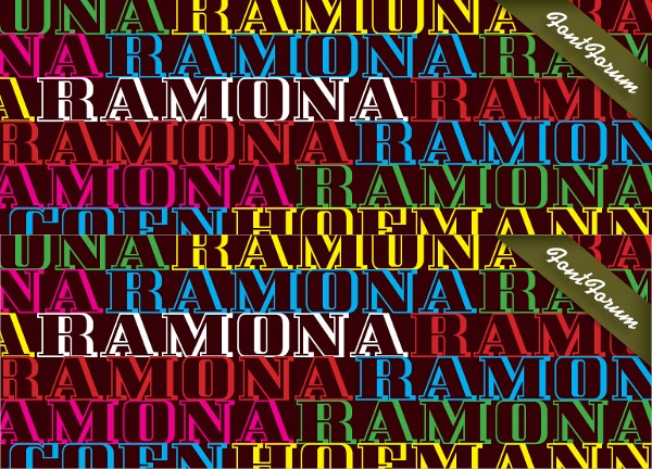 ramona old english font