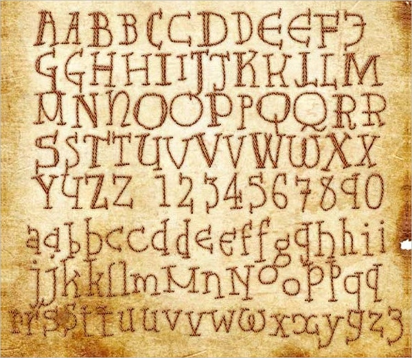 Ancient Old English Letter Font