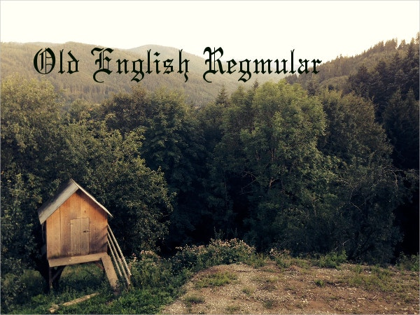 Old English Regular Font