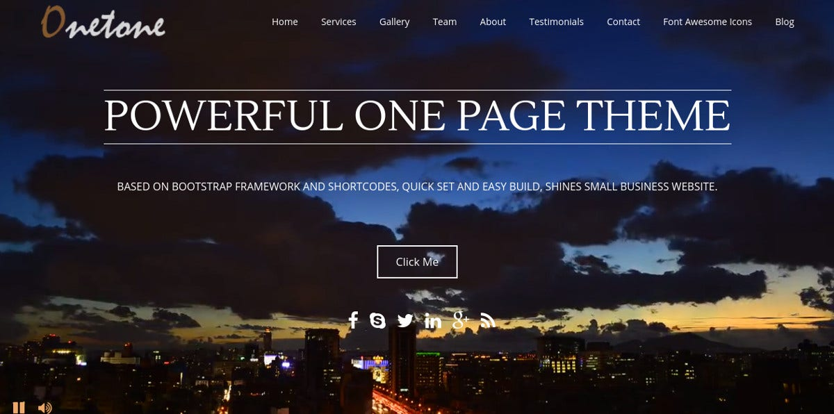 One Page BuddyPress Theme