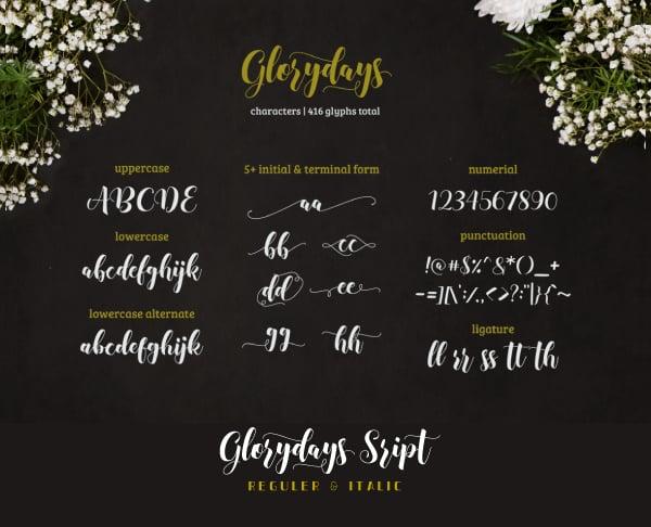 Glamorous Cursive Fonts