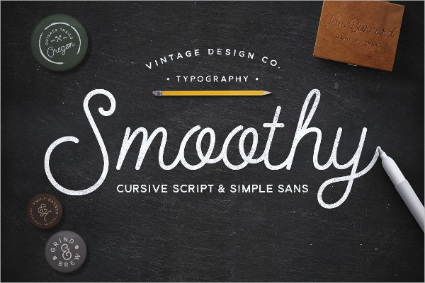 Vintage Typography Cursive Fonts