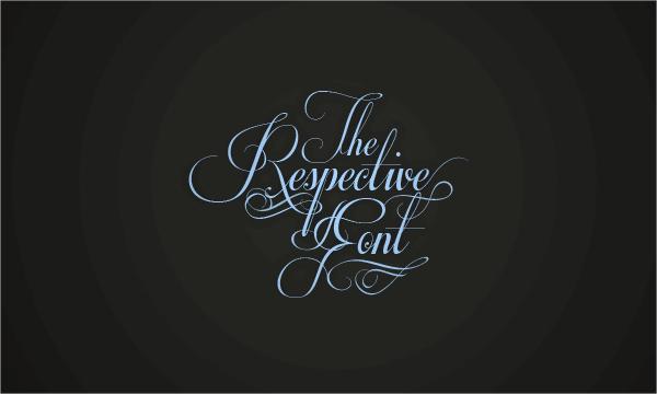 Respective Cursive Font