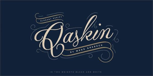 Qaskin Black Cursive Font