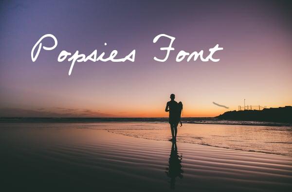 Popsies Cursive Font