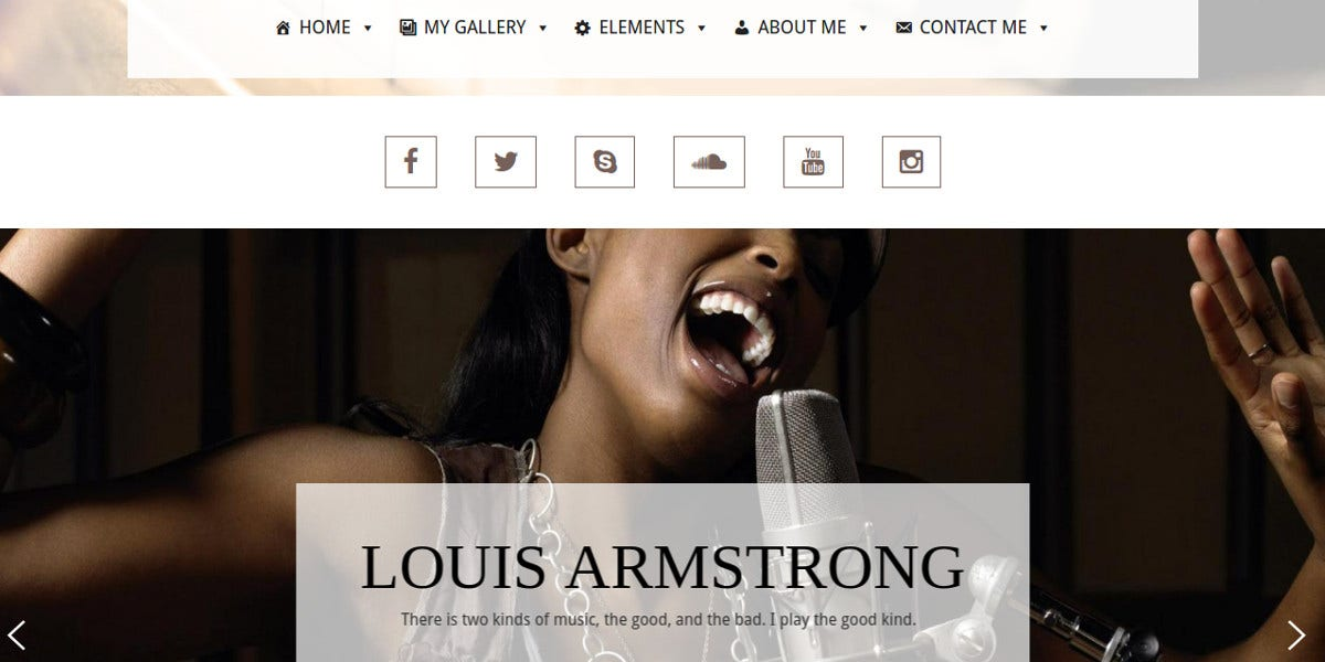 Artist Blog WordPress Website Theme $19