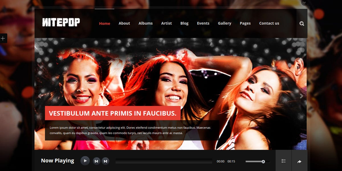 Music Band Artist WordPress Website Theme 449