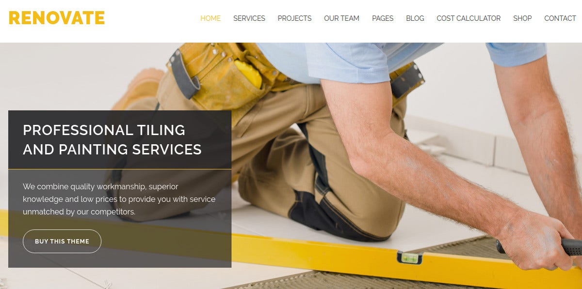 Building Construction & Carpenter WordPress Theme $59