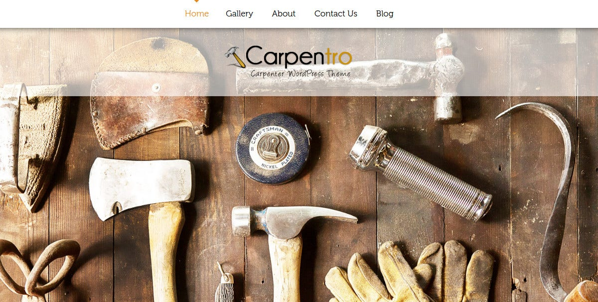 Furniture Designers, Carpenter WP Theme $79