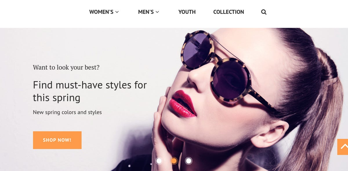 Sun Glasses Store Magento eCommerce Theme $179